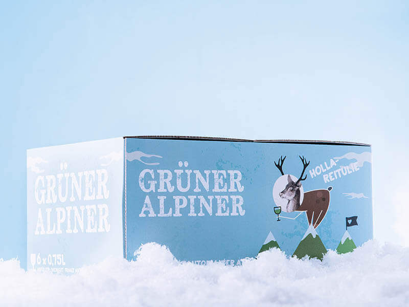 WEINGUT FRANZ ANTON MAYER Packaging Design Grüner Alpiner