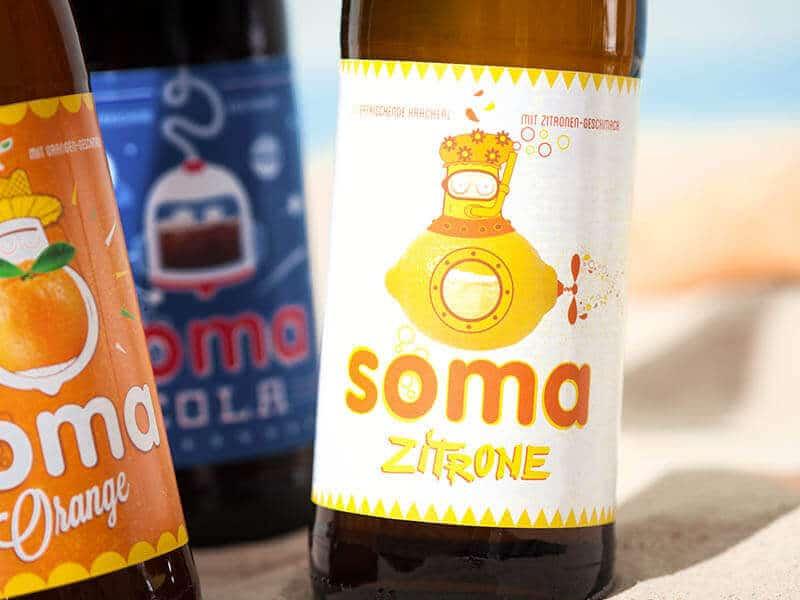 BRAU UNION ÖSTERREICH Etiketten für SOMA-Limonaden