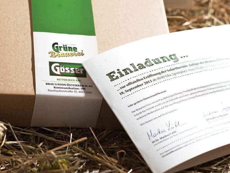 BRAU UNION ÖSTERREICH Eröffnungseinladung Brauerei Göss