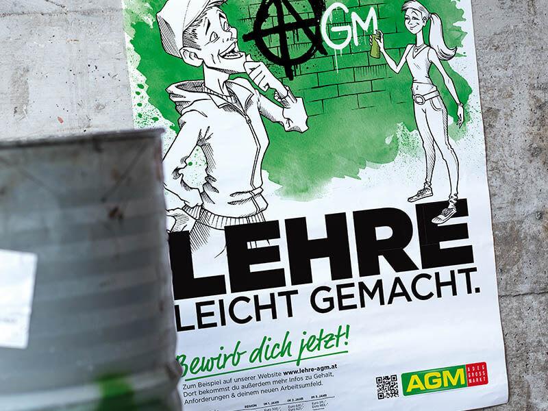 AGM GROSSVERBRAUCHERMÄRKTE Lehrlingskampagne Plakat