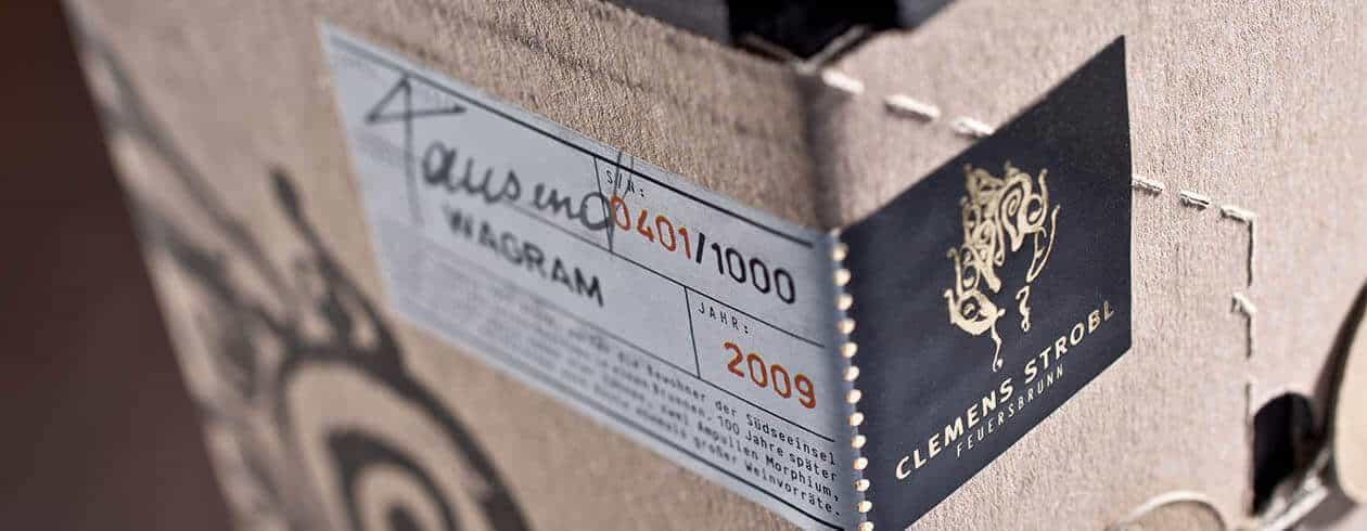 WEINMANUFAKTUR CLEMENS STROBL Packaging Design Edition Tausend