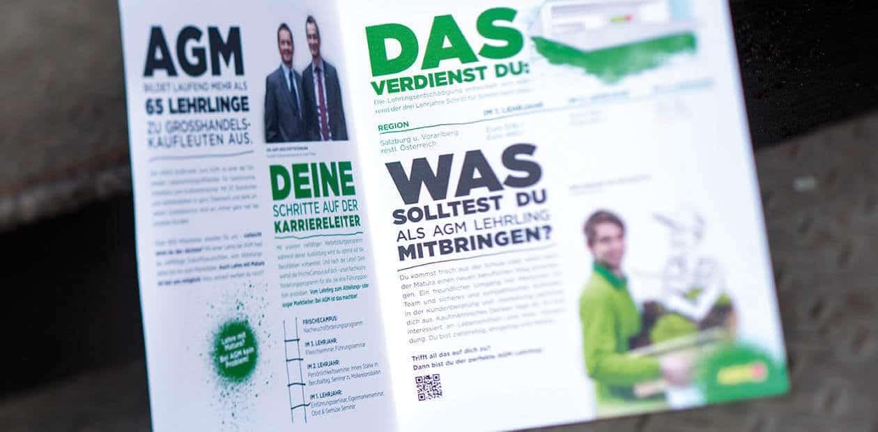 AGM GROSSVERBRAUCHERMÄRKTE Lehrlingskampagne Folder