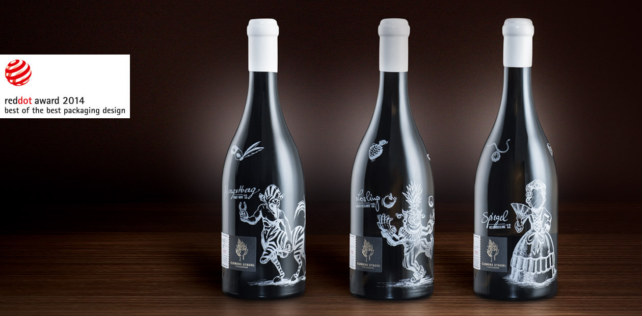 WEINMANUFAKTUR CLEMENS STROBL Packaging Design Premiumlinie 2012