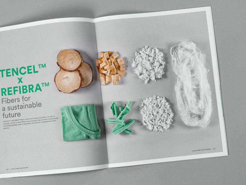 """Verschiedene natürliche Materialien im Katalog """"fibers for the future"""""""