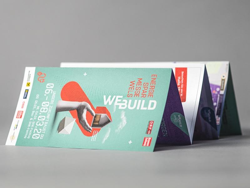 Folder für die WEBUILD Energiesparmesse Wels